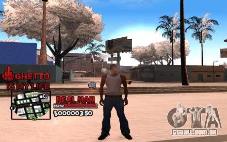 С-HUD Gueto é a Minha Vida para GTA San Andreas