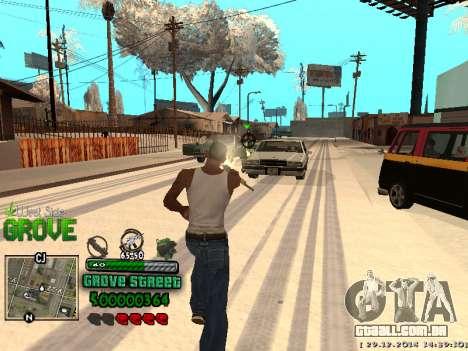 C-HUD Grove Street para GTA San Andreas oitavo tela