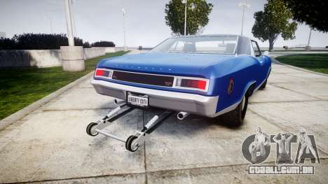 GTA V Albany Buccaneer Little Wheel para GTA 4 traseira esquerda vista