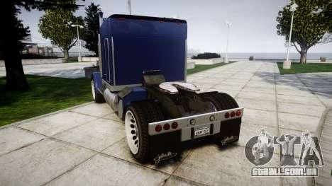 JoBuilt Phantom Drift para GTA 4 traseira esquerda vista