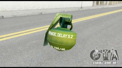 MGS1-2 Grenade from Metal Gear Solid para GTA San Andreas terceira tela