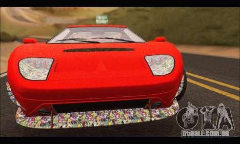 Vapid Bullet Gt (GTA IV) (Stickers Edition) para GTA San Andreas