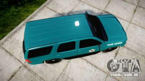 Chevrolet Tahoe 2013 Game Warden [ELS] para GTA 4 vista direita