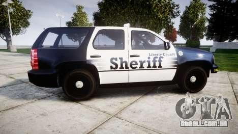 Chevrolet Tahoe 2013 County Sheriff [ELS] para GTA 4 esquerda vista