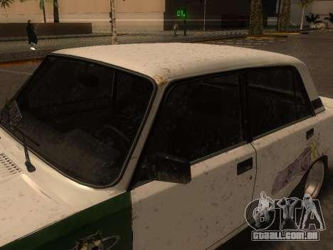 VAZ 2105 Enferrujado calha para GTA San Andreas traseira esquerda vista