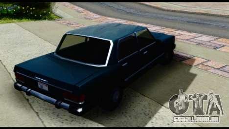 Quatro Feltzer para GTA San Andreas traseira esquerda vista