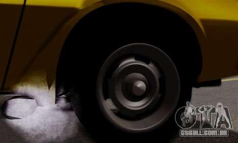 Chevrolet Camaro Mk.II para GTA San Andreas vista interior