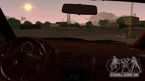 Volkswagen Bora para GTA San Andreas traseira esquerda vista
