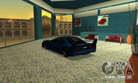HD Turismo para GTA San Andreas traseira esquerda vista