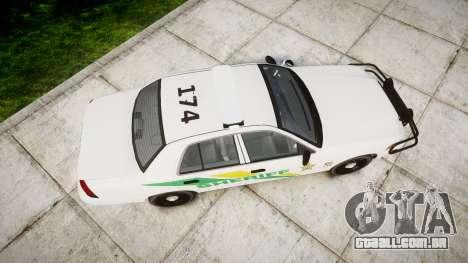 Ford Crown Victoria Martin County Sheriff [ELS] para GTA 4 vista direita