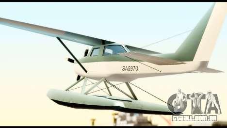 Beta Skimmer para GTA San Andreas traseira esquerda vista