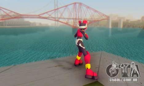 Zero From Megaman X4 para GTA San Andreas terceira tela