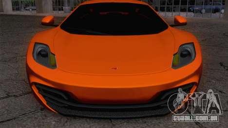 McLaren MP4-12C Gawai v1.5 para GTA San Andreas traseira esquerda vista