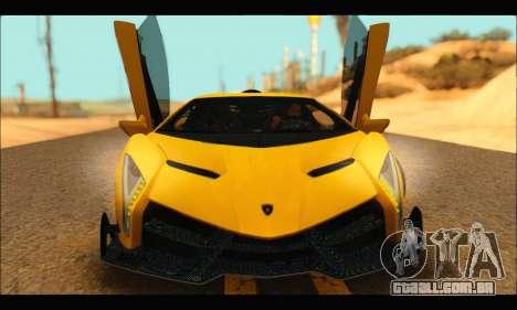 Lamborghini Veneno 2013 HQ para GTA San Andreas esquerda vista