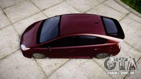 Toyota Prius para GTA 4 vista direita