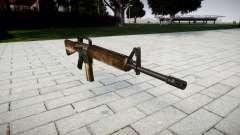 O M16A2 rifle empoeirado