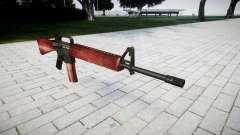 O M16A2 rifle vermelho