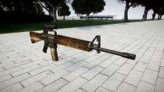 O M16A2 rifle [óptica] empoeirado