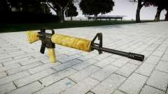 O M16A2 rifle de ouro