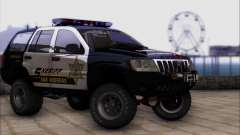 Jeep Grand Cherokee 1999 Sheriff para GTA San Andreas