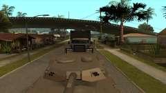 Transporte do caminhão-tanque