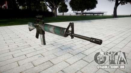 O M16A2 rifle [óptica] varsóvia para GTA 4