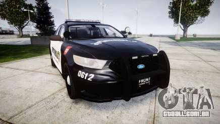 Ford Taurus 2013 Georgia Police [ELS] para GTA 4