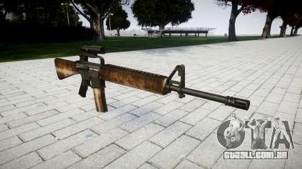 O M16A2 rifle [óptica] empoeirado para GTA 4