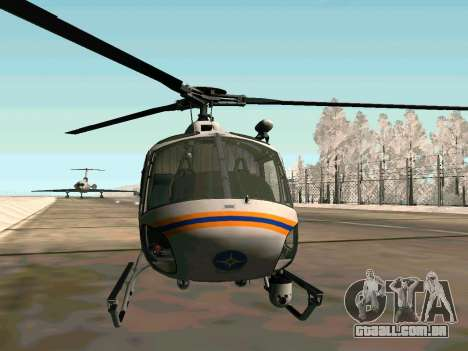 Bo 105 EMERCOM da Rússia para GTA San Andreas traseira esquerda vista