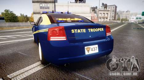 Dodge Charger West Virginia State Police [ELS] para GTA 4 traseira esquerda vista