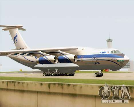 IL-76TD Gazprom Avia para GTA San Andreas esquerda vista