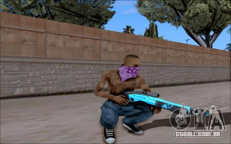 Blueline Gun Pack para GTA San Andreas quinto tela