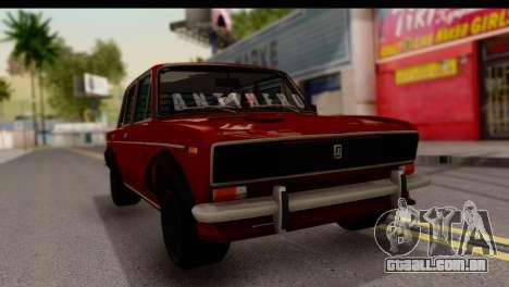 VAZ 2106 BQ para GTA San Andreas vista direita