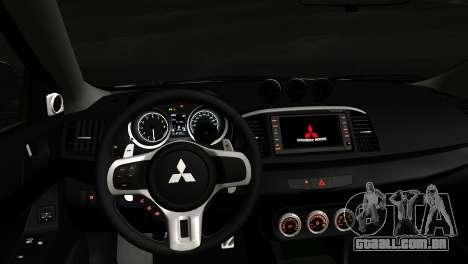 Mitsubishi Lancer para GTA San Andreas vista direita