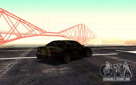 BMW M3 E36 Hunter para GTA San Andreas esquerda vista