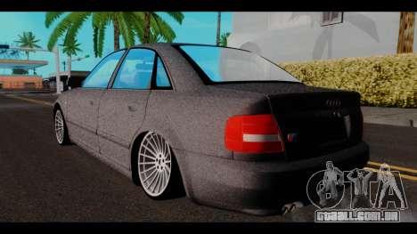 Audi A4 para GTA San Andreas esquerda vista