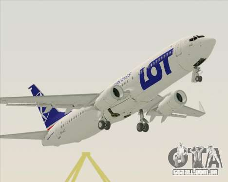 Boeing 737-800 LOT Polish Airlines para GTA San Andreas vista superior