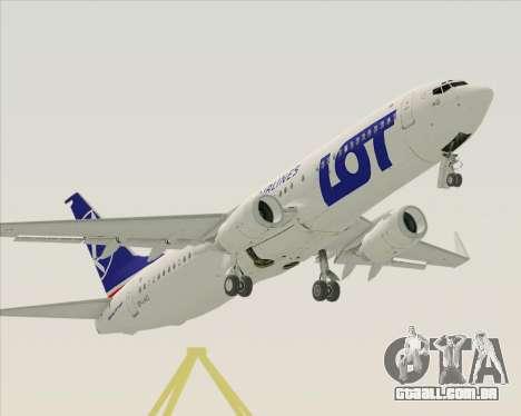 Boeing 737-800 LOT Polish Airlines para GTA San Andreas vista superior
