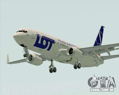 Boeing 737-800 LOT Polish Airlines para GTA San Andreas vista direita