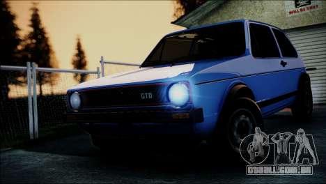 Volkswagen Golf Mk1 GTD para GTA San Andreas vista interior