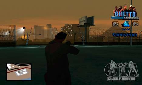C-HUD Gangster para GTA San Andreas