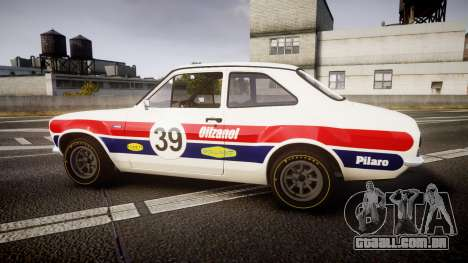 Ford Escort RS1600 PJ39 para GTA 4 esquerda vista