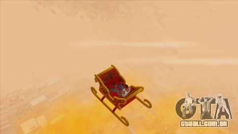 Santa Claus Sleigh para GTA San Andreas vista direita