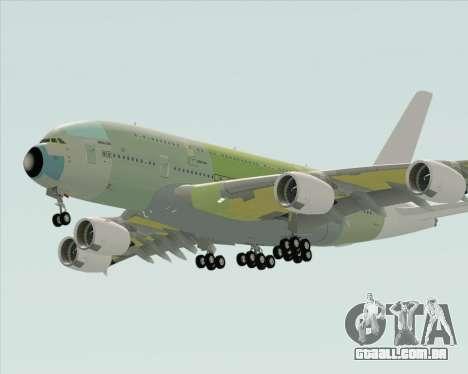 Airbus A380-800 F-WWDD Not Painted para GTA San Andreas vista direita