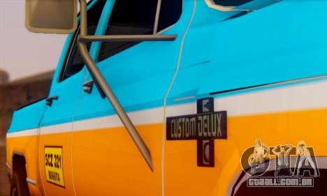 Chevrolet Custom Deluxe para GTA San Andreas vista direita