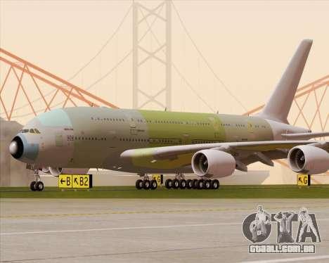 Airbus A380-800 F-WWDD Not Painted para GTA San Andreas vista superior