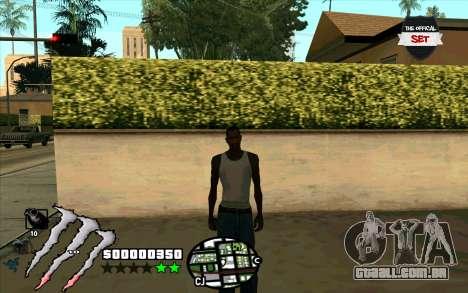 C-HUD Monster Energy para GTA San Andreas terceira tela