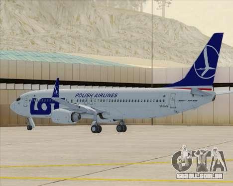 Boeing 737-800 LOT Polish Airlines para GTA San Andreas esquerda vista
