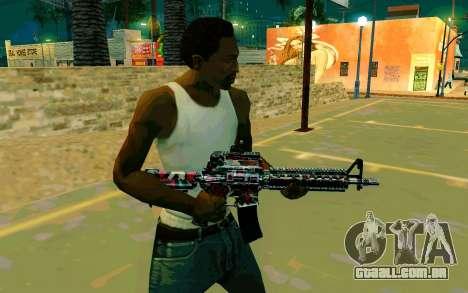 M4A1 (Looney) para GTA San Andreas segunda tela