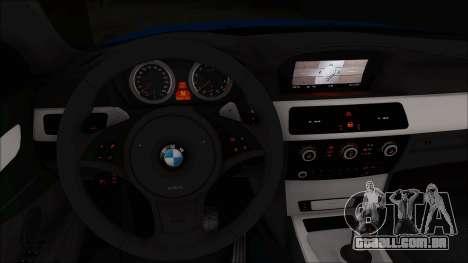 BMW 520i E60 para GTA San Andreas vista direita